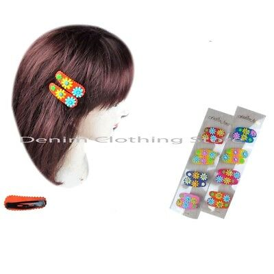 """16pcs Baby Toddler Girl Hair Rubber Snap Flower Assorted Colors Hairpin Clips 2"""""""