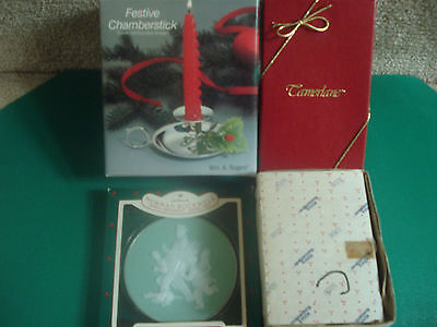 SILVER PLATED CHAMBERSTICK NORMAN ROCKWELL COLLECTABLE PLUS MORE