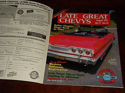 Late Great Chevys 1958 to 1964 Car Owners Magazine August 1997 NICE ! Chevrolet