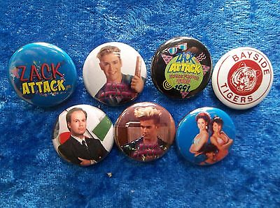 """1"""" pinback button set inspired  by """"Saved by the Bell Zack Attack"""""""