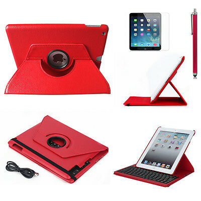 360° Rotating Bluetooth Keyboard Leather Stand Case Cover  for ipad air 2 IPad 6