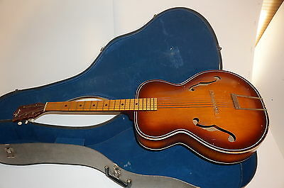 Vintage Kay Archtop Acoustic Guitar with case