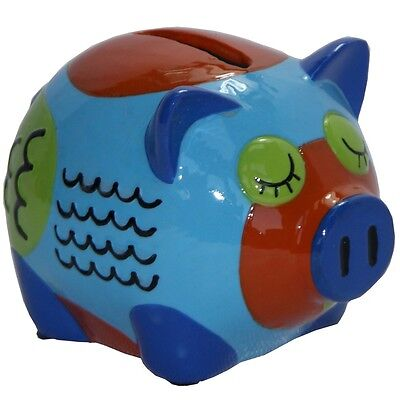 Hand Painted  Mini  Willy Piggy Bank