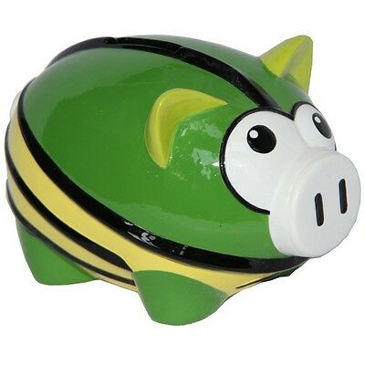 Hand Painted Mean and Green El Luchador Piggy Bank