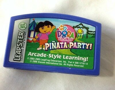 LEAP FROG LEAPSTER DORA THE EXPLORER PINATA PARTY NICK JR GAME CARTRIDGE 2006