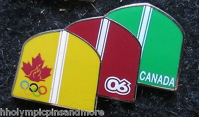 2006 Torino Italy Canada Olympic team pin 3 touques noc pin dated