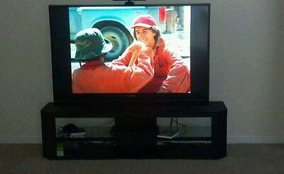 "Mitsubishi WD-60738 60"" 1080p HD Rear-Projection Internet TV As Is Remote"