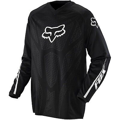 FOX MOTOCROSS JERSEY BLACKOUT Medium NEW!  Motorcross MX Off Road BLACK