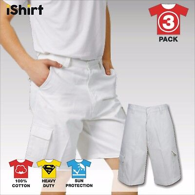 3Xcargo Painters Work Shorts 100% Cotton Drill Heavy Weight Duty Safety Workwear