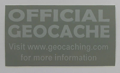 20 x Cache stickers for Geocaching gray print on gray sticker