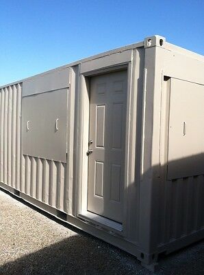 20' container office, fully furnished & integration ready for your site