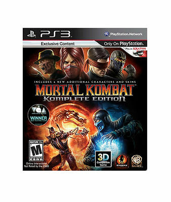 Mortal Kombat Komplete Edition  (Sony Playstation 3, 2011)