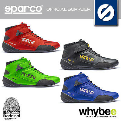 001224 Sparco Cross Rb-7 Race Boots Leather Fireproof Fia 8856-2000 Approved