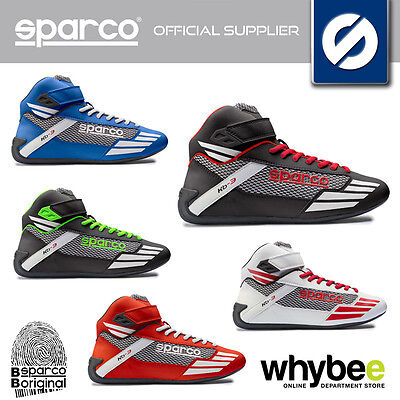 001226 Sparco Mercury Kb-3 Kart Boots Karting Kb3 Leather Waterproof 4 Colours