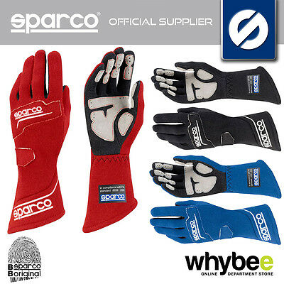 001307 Sparco Rocket Rg-4 Racing Rally Gloves Soft Suede Fireproof Fia 8856-2000
