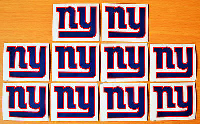 Lot of (10) NEW YORK GIANTS Logo STICKERS New