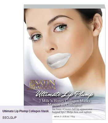 Satin Smooth Ultimate Lip Plump Collagen Mask 3pk - SSCLGLIP