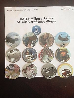 Set of 5 cent 4th Printing AAFES Pogs,   Uncirculated.