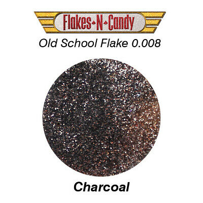 Metal Flake Glitter (0.008) Custom Paint Metal Flakes 30G Charcoal