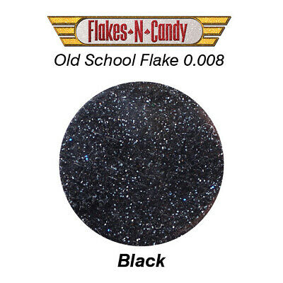 Metal Flake Glitter (0.008) Custom Paint Flakes 30G Black