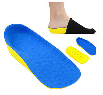 SECRET Height Increase Lift Half Insole In Sock Pad Shoes Pad Heel Insoles Blue