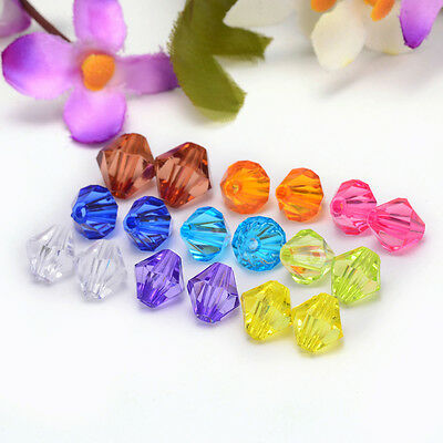 Free shipping charm for 30pcs swarovski Crystal 10mm  Bicone Beads Mixed color