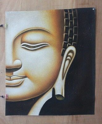Hand made Modern abstract Oil Painting on Canvas Buddha head no frame #B57