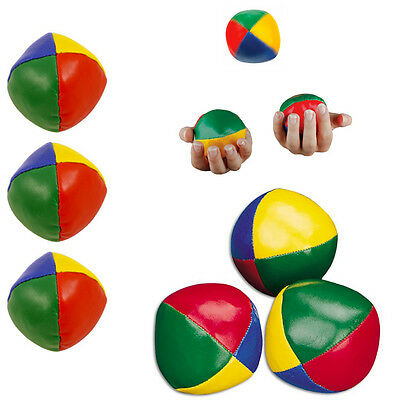 Kid's Juggling Balls Coloured 3 Set Party Circus Clown Fun Juggle Learning Toys