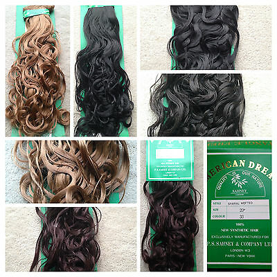100% SYNTHETIC HAIR - AMERICAN DREAM 20 inches, Curly and Spiral