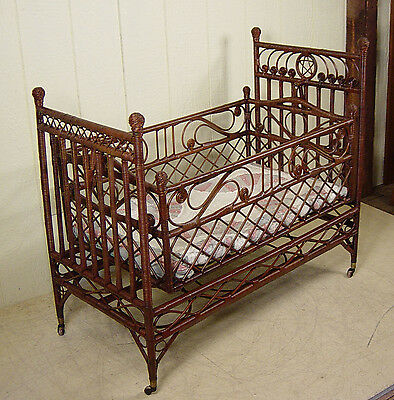 Antique Wicker Cradle - great original finish