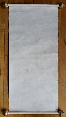 blank calligraphy scroll Japanese Chinese rice paper shodo art sumi ink kani