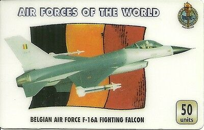 Rare / Phonecard Prepaid - Air Forces : Belgian F 16A Fighting Falcon Belgique