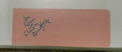 Clinton Sundberg Authentic Signed Autograph From I Love Lucy The Director