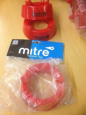 Mitre Rugby Kicking Tee • Red • One Size • Set Of 2.