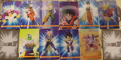 10  dragon ball Z 3 d  trading cards from argentina
