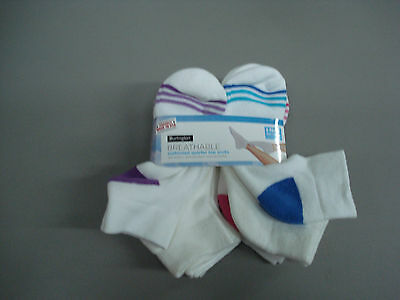 NWT Women's Burlington Cushioned Breathable Quarter Top Socks Multi 8 Pair #205K