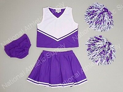 Youth Cheerleader Uniform Outfit Girl Size 4 Purple White