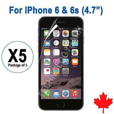 """5x iPhone 6 6S 4.7"""" Ultra Clear Screen Protector"""