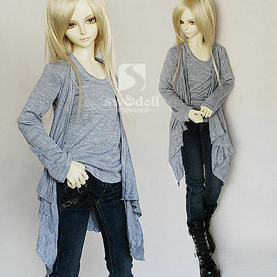2 Color Layered Long Pullover Shirt for BJD 1/3 SD Uncle Size Doll Clothes