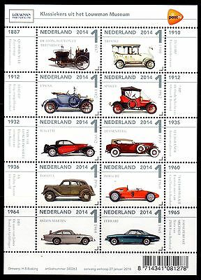 Netherlands 2014 Classic Cars Sheetlet 10 MNH