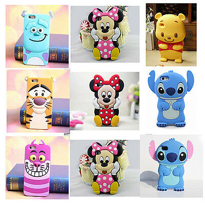 Pooh Tigger 3D Cartoons Soft Silicone Phone Case Cover For iPhone 8 8 Plus 7 X 6