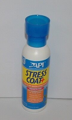 API STRESS COAT 118ml Fish and Tap Water Conditioner. Contains Aloe Vera