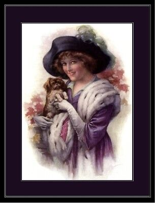 English Picture Print Pekingese Dog Victorian Art