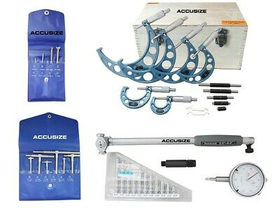 """Toolmaker's Inspection Set with 2-6"""" x .0001"""" Dial Bore Gage, #EGEE-1006"""