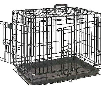 DOG CRATE - Double Door Pet Animal Cage Home Bed Metal Strong Resistant dm Carry