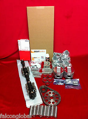 Cadillac 365 master engine kit Late-1957 pistons gaskets cam MOLY rings