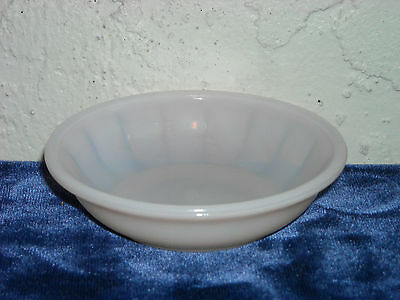 Akro Agate Large Interior Panel Cereal Bowl  Pink Luster