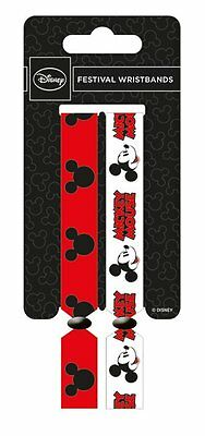 Disney Mickey Mouse Pack Of 2 Fabric Festival Wristbands BY PYRAMID FWR680015
