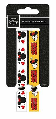 Disney Minnie Mouse Pack Of 2 Fabric Festival Wristbands BY PYRAMID FWR680016