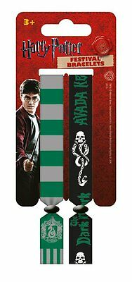 Harry Potter (Slytherin) Pack Of 2 Fabric Festival Wristbands BY PYRAMID